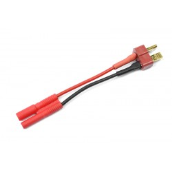 GF-1300-071 cble adaptateur - Deans Femelle / 2mm Gold Connector - 14AWG cble silicone - 1 pc