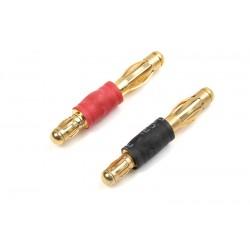 GF-1300-121 Convertisseur - Connecteur Or 3.5mm à Connecteur Or 4.0mm - 1 pair