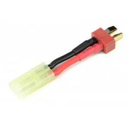 GF-1301-007 cble adaptateur - Deans Femelle / Mini Tamiya Male - 16AWG cble silicone - 1 pc