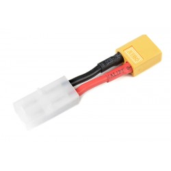 GF-1301-050 cble adaptateur - Tamiya Male / XT-60 Male - 14AWG cble silicone - 1 pc
