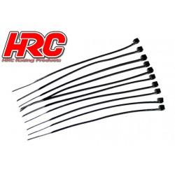 HRC5021BK Tie-Wraps - Court (100mm) - Noir (10 pces)
