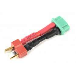 GF-1301-061 cble adaptateur - Deans Femelle / MPX Femelle - 14AWG cble silicone - 1 pc