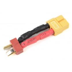 GF-1301-079 cble adaptateur - Deans Femelle / XT-60 Femelle - 12AWG cble silicone - 1 pc