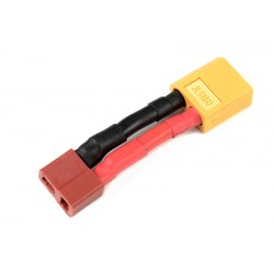 GF-1301-088 cble adaptateur - Deans Male / XT-60 Male - 12AWG cble silicone - 1 pc