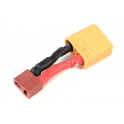 GF-1301-089 cble adaptateur - Deans Male / XT-90 Male - 12AWG cble silicone - 1 pc