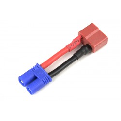 GF-1301-090 cble adaptateur - Deans Male / EC-2 Male - 14AWG cble silicone - 1 pc