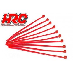 HRC5021RE Tie-Wraps - Court (100mm) - Rouge (10 pces)