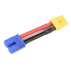 GF-1301-093 cble adaptateur - EC-2 Male / XT-30 Femelle - 14AWG cble silicone - 1 pc