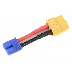 GF-1301-094 cble adaptateur - EC-2 Male / XT-60 Femelle - 14AWG cble silicone - 1 pc