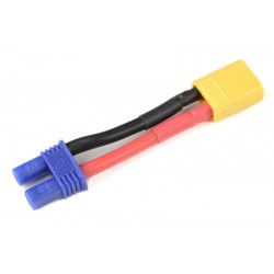 GF-1301-098 cble adaptateur - EC-2 Femelle / XT-30 Male - 14AWG cble silicone - 1 pc