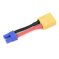GF-1301-099 cble adaptateur - EC-2 Femelle / XT-60 Male - 14AWG cble silicone - 1 pc