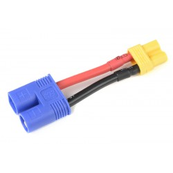 GF-1301-105 cble adaptateur - EC-3 Male / XT-30 Femelle - 14AWG cble silicone - 1 pc