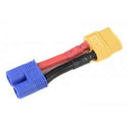 GF-1301-106 cble adaptateur - EC-3 Male / XT-60 Femelle - 12AWG cble silicone - 1 pc