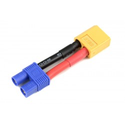 GF-1301-113 cble adaptateur - EC-3 Femelle / XT-60 Male - 12AWG cble silicone - 1 pc