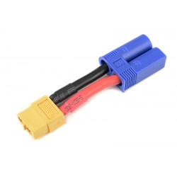 GF-1301-117 cble adaptateur - EC-5 Male / XT-60 Femelle - 12AWG cble silicone - 1 pc