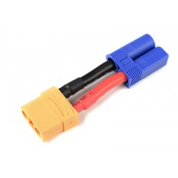 GF-1301-118 cble adaptateur - EC-5 Male / XT-90 Femelle - 10AWG cble silicone - 1 pc