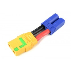 "GF-1301-119 cble adaptateur - EC-5 Male / XT-90 AS ""Anti-Spark"" Femelle - 10AWG cble silicone - 1 pc"