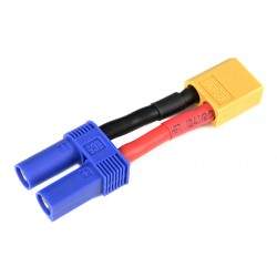 GF-1301-124 cble adaptateur - EC-5 Femelle / XT-60 Male - 12AWG cble silicone - 1 pc