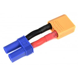 GF-1301-125 cble adaptateur - EC-5 Femelle / XT-90 Male - 10AWG cble silicone - 1 pc