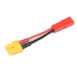 GF-1301-132 cble adaptateur - XT-30 Femelle / BEC Male - 20AWG cble silicone - 1 pc