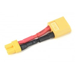 GF-1301-133 cble adaptateur - XT-30 Femelle / XT-60 Male - 14AWG cble silicone - 1 pc