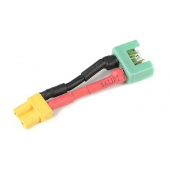 GF-1301-135 cble adaptateur - XT-30 Femelle / MPX Male - 14AWG cble silicone - 1 pc