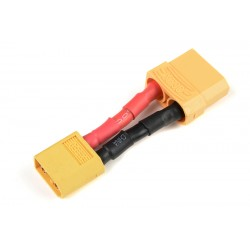 GF-1301-137 cble adaptateur - XT-60 Male / XT-90 Femelle - 12AWG cble silicone - 1 pc