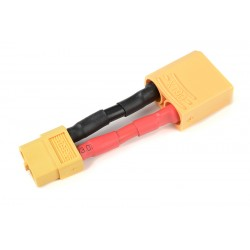 GF-1301-143 cble adaptateur - XT-60 Femelle / XT-90 Male - 12AWG cble silicone - 1 pc