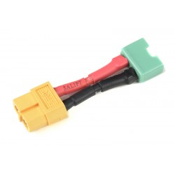 GF-1301-145 cble adaptateur - XT-60 Femelle / MPX Male - 14AWG cble silicone - 1 pc