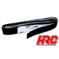 HRC5042BK3 Ruban - Autocollant - 30x1000mm - 3M - Noir (1 paire) (compatible w/Velcro)