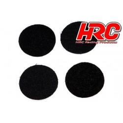 HRC5045K42 Ruban - Autocollant - Rond D42mm - Noir (2 pces) (compatible w/Velcro)
