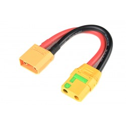 GF-1311-025 Rallonge - XT-90 AS Anti-Spark - 10AWG cble silicone - 12cm - 1 pc