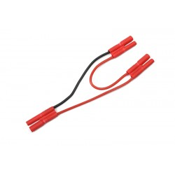GF-1320-110 Cordon-Y - Série - 2mm Fiche Or - 20AWG cble silicone - 12cm - 1 pc
