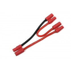 GF-1320-115 Cordon-Y - Série - 3.5mm Fiche Or - 14AWG cble silicone - 12cm - 1 pc