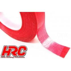 HRC5050RE Bande autocollante pour accu - TSW Pro Racing - Fibre de verre - 20mm x 50m – Rouge