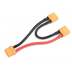 GF-1321-025 Cordon-Y - Série - XT-90 AS Anti-Spark - 10AWG cble silicone - 12cm - 1 pc