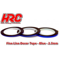 HRC5061BL25 Ligne de déco fine et autocollante - 2.5mm x 15m - Bleu Metallic (15m)