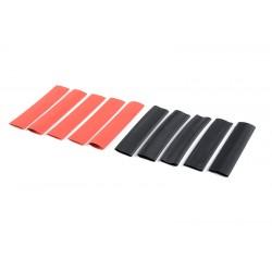 GF-1460-005 Gaine thermoretractable 9.5mm - Rouge + Noir - 10 pcs