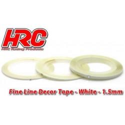 HRC5061WH15 Ligne de déco fine et autocollante - 1.5mm x 15m - Blanc Metallic (15m)