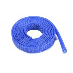 GF-1476-021 Manchon de protection pour cbles - Tressée - 8mm - Bleu - 1m