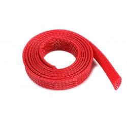 GF-1476-032 Manchon de protection pour cbles - Tressée - 10mm - Rouge - 1m