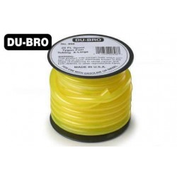 DUB506 Durite à essence (pas nitro) - Tygon - 6.4 x 3mm - 9cm (30 ft) – Jaune