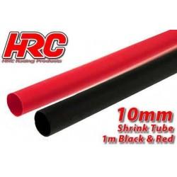 HRC5112I Gaine Thermorétractable - 10mm - rouge et noir (1m chacun)