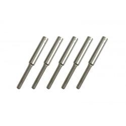 GF-2102-002 Embout de chape - M2 - Corde à piano 1.2mm - 5 pcs