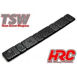 HRC5301 Lest d'équilibrage avec finition carbone - TSW Pro Racing - 5g et 10g