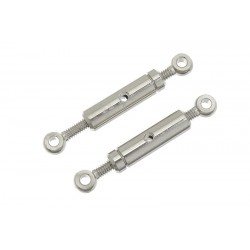 GF-2105-001 Tendeur de cbles - M2 - Messing - 2 pcs