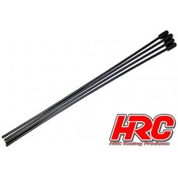 HRC5502 Tubes d'antenne - noir + jaune (4 pces)