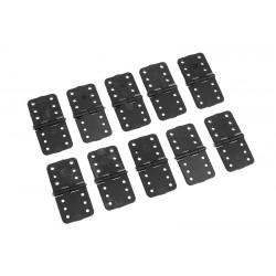 GF-2150-002 Charnières en nylon - Axe en métal - Moyen - 16x32mm - 10 pcs