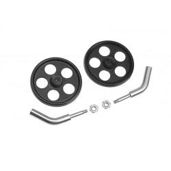 GF-2306-001 Axe de roues - pour tige de carbone à¸2.0mm - roues incl. - 2 pcs