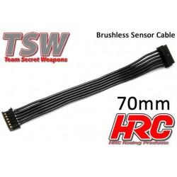 HRC5701A Câble plat de capteur Brushless - TSW Pro Racing - 70mm